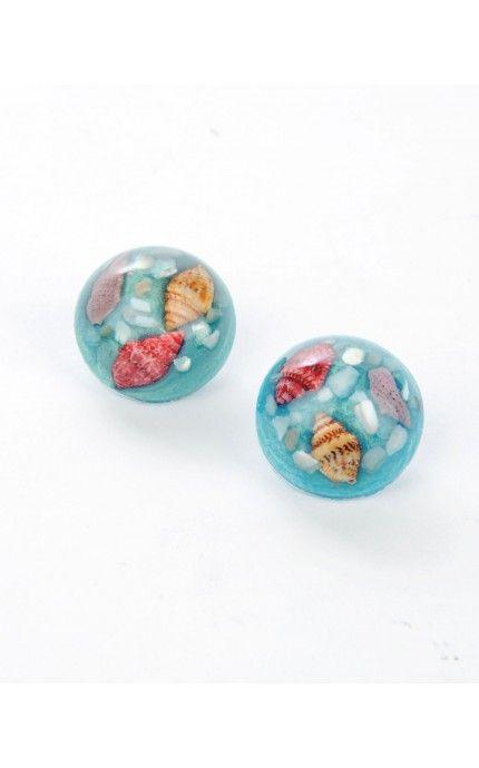 Million Dollar Mermaid Lucite Earrings