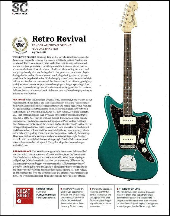 Fender American Original 60s Jazzmaster Guitar Review Sound Check Article Fender Guitar Reviews Guitar Fender Guitar Amps