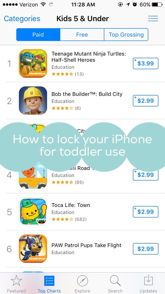 How to lock your iPhone/iPad for Toddler Use