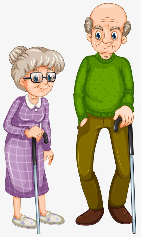 Support Crutches Old Couple Grandfather Grandmother Husband And Wife Png Transparent Clipart Image And Psd File For Free Download Family Cartoon Clip Art Old Couples