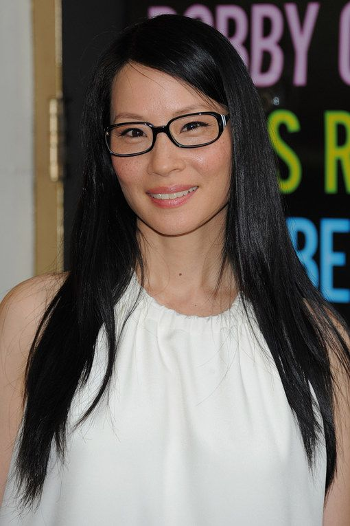 The Hottest Celebrity Glasses: 35 Frames You Need To Be Wearing: Lucy Liu. For more ideas click the picture or visit www.sofeminine.co.uk