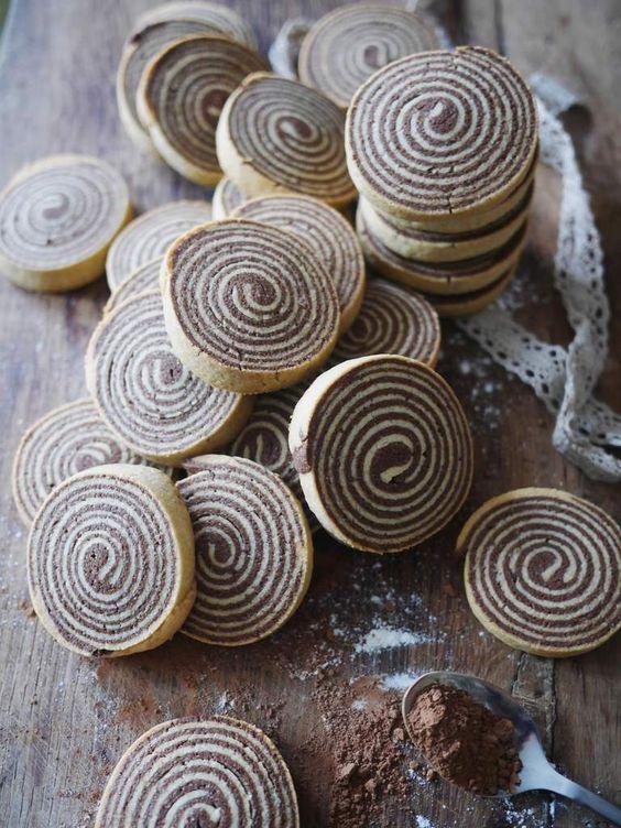 Les sablés en spirale chocolat et vanille - Blog de cuisine créative, recettes / popotte de Manue