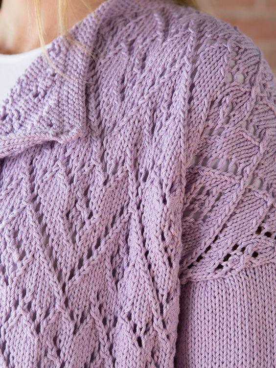 Lavanya Berroco FREE knitting pattern open cardigan ...