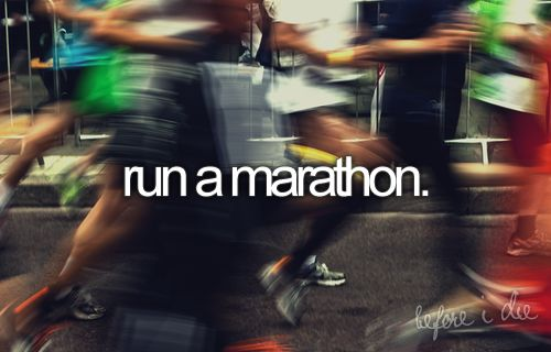 I hate running. But at some point in my life I think I would like to have the endurance to run that long.