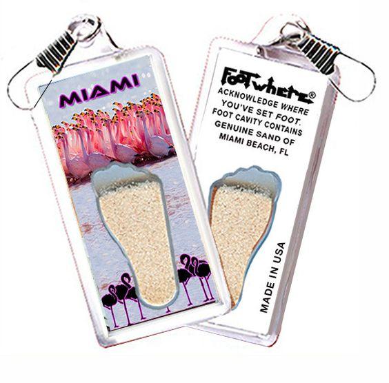 Miami FootWhere® Souvenir Zipper-Pull