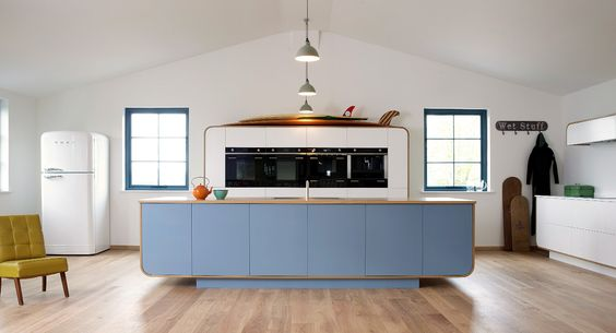 SUMMERTIME: Eleven Seasonally Inspired Kitchens  |  Contemporary meets retro in the Airstream-inspired kitchen by deVOL.