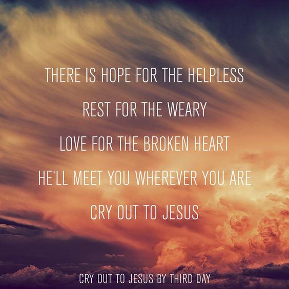 THIRD DAY - CRY OUT TO JESUS LYRICS