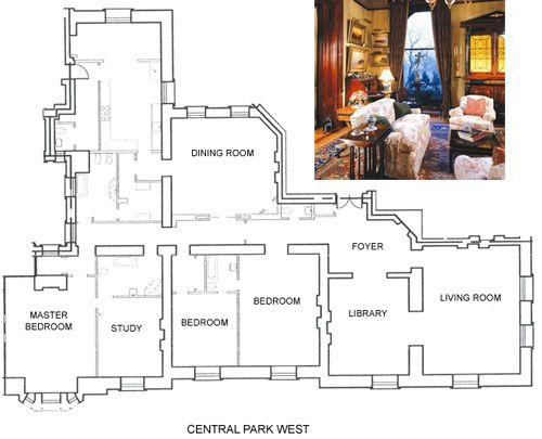The dakota central park and floor plans on pinterest for Apartment building plans 6 units