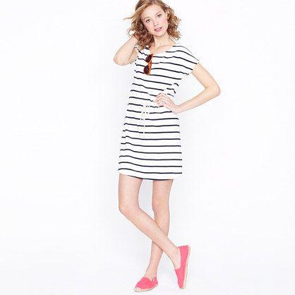 Drawstring tunic in stripe