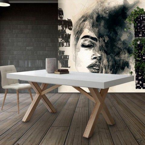 Table Extensible De Salle A Manger Blanche En Bois Massif Rico In