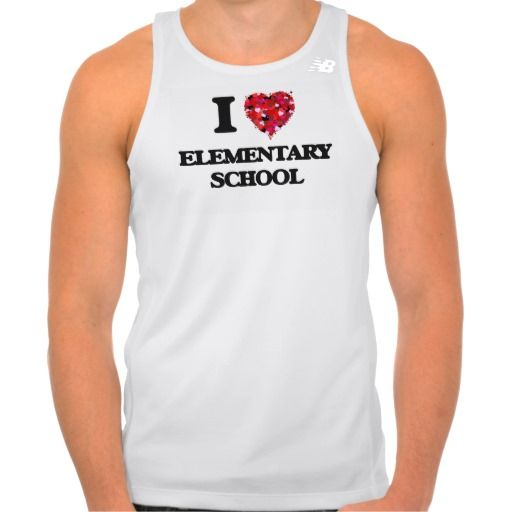 I love ELEMENTARY SCHOOL T-shirt Tank Tops