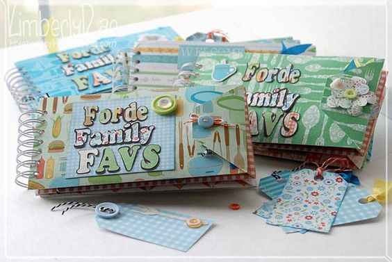 DIY-Family Recipe Mini Album Book! Isn't this just the cutest! If you have a cutting machine, head on over to her blog and like it....she has this one FREE! Whatta' girl!