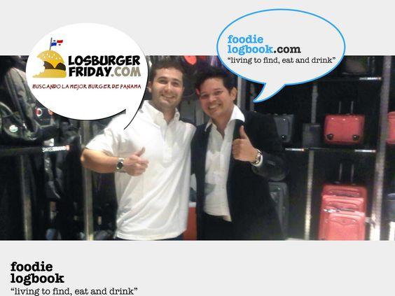 Foodie logbook:   DE LOS FOODIETOR un encuentro con el fellow food blogger, @alejoh15 de losburgerfriday.com  #foodiespty #foodietors #burgerfridays