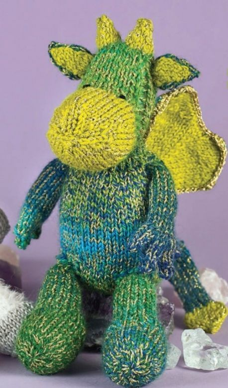 Knitting Pattern For Dragon : St George s Day cuddly dragon free pattern knit ...