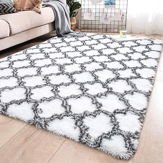 Area Fluffy Indoor Large Modern Patterned Black Shaggy Rugs For Living Room Home Living Room Rugs Shaggy In 2020 Rugs In Living Room Modern Area Rugs Rugs