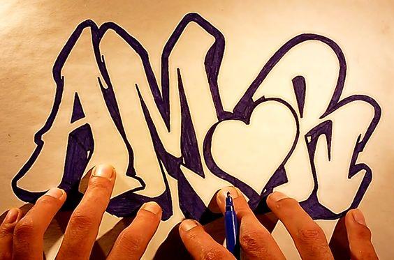 Como hacer letras 3d dibujos de amor bonitos faciles para dibujar a lapi.