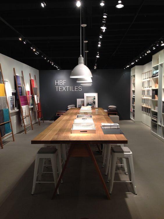 HBF Textiles showroom at Neocon