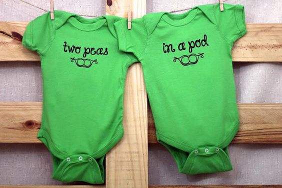 Two Peas In A Pod Set You choose size by littletreetopsbaby                                                                                                                                                      More