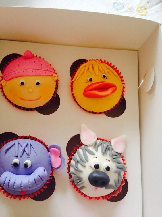 Cupcakes de animalitos y bebe