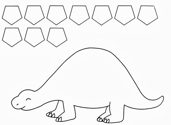 twanneke, dinosaur, shapes, pentagon shapes | Dinosaurs Preschool ...