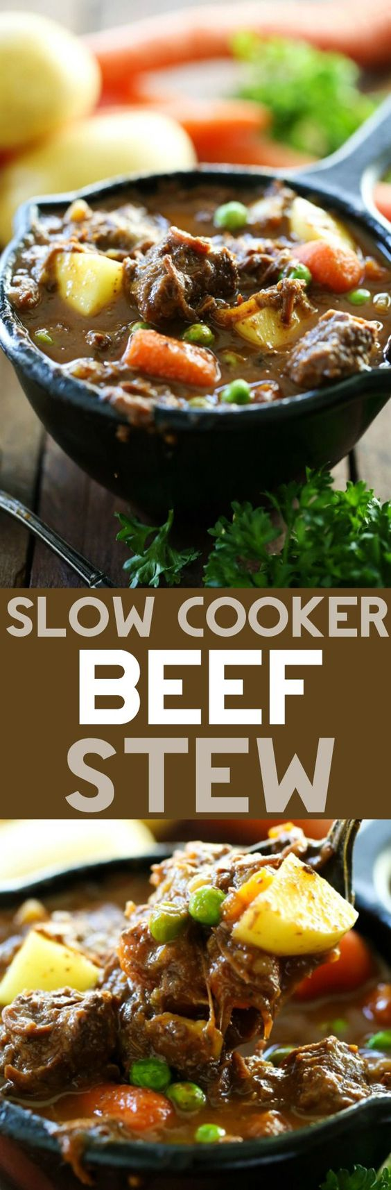 Slow Cooker Beef Stew... A hearty and delicious beef stew that is ...