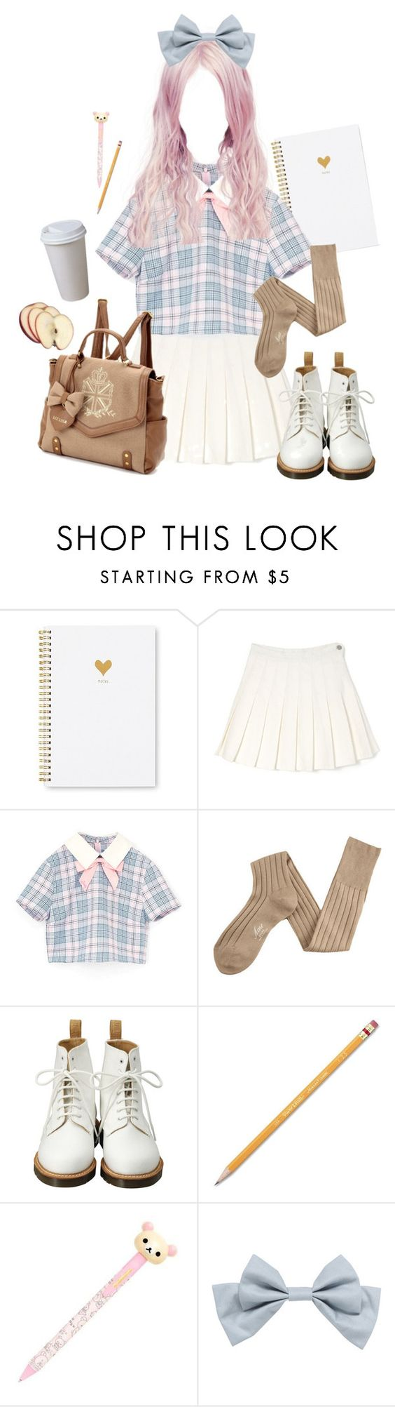"""""""School Day"""" by kittykitty83 ❤ liked on Polyvore featuring Sugar Paper, Acne Studios, Dr. Martens and Paper Mate"""