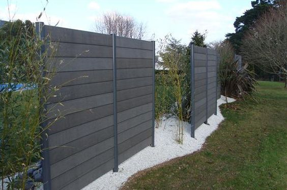 Wood Composite Garden Fence FOREXIA ® : ANTHRACITE