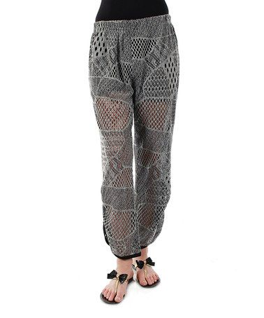 Loving this Gray Lace Soft Pants - Plus on #zulily! #zulilyfinds