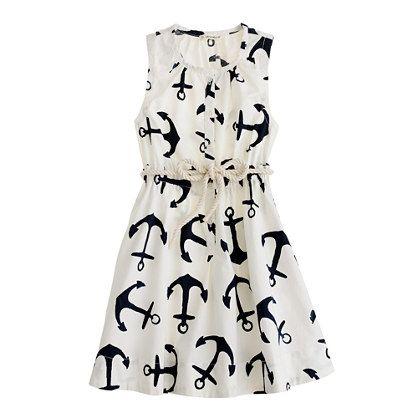 dizzy anchors sateen dress