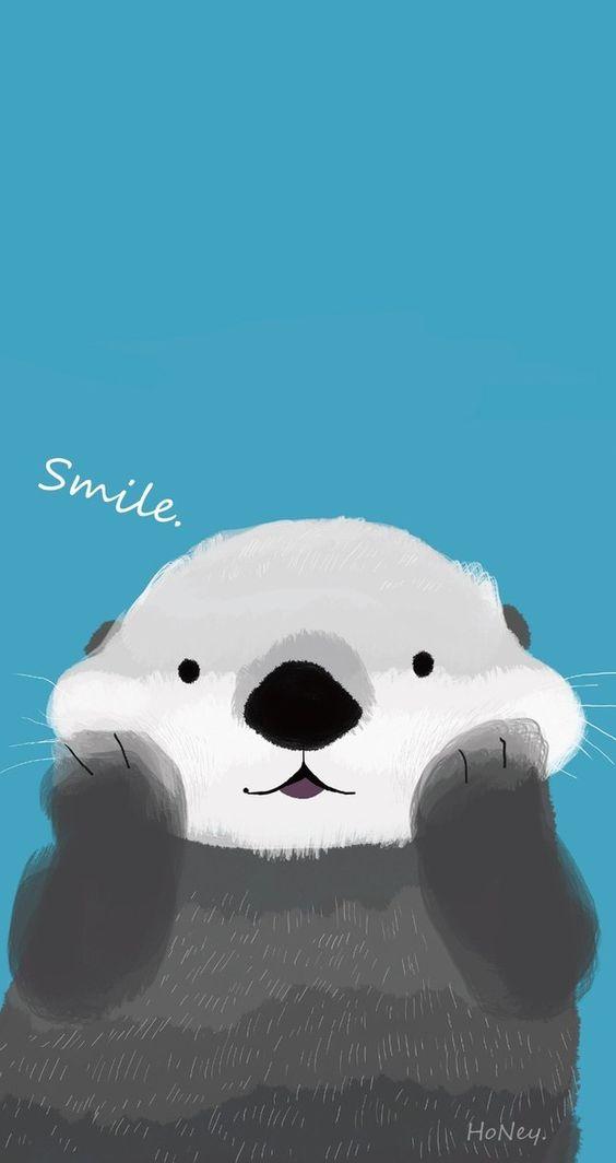 Dieser niedliche Otter: | 25 bezaubernde Hintergrundbilder für Dein Handy, die Dich zum Lächeln...