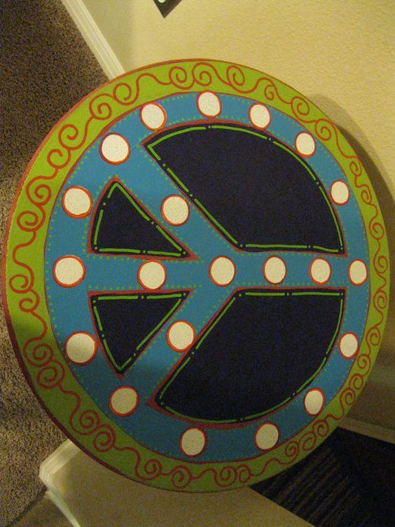 Jez4U SOLD for Megan Peace Sign Side Table Customer by Jez4U, $50.00