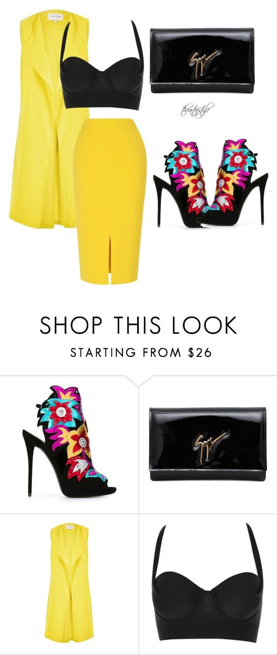 """""""Untitled #2067"""" by theblushingbeauty ❤ liked on Polyvore featuring Giuseppe Zanotti, River Island and L.K.Bennett"""