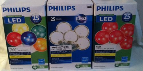 Philips Clear Globe Led String Lights : PHILIPS LED G40 STRING GLOBE LIGHTS, MULTI, RED, CLEAR, RV WEDDING CHRISTMAS Cinderella/Fairy ...