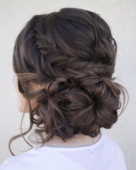 Dutch Fishtail Updo | 12 Curly Homecoming Hairstyles You Can Show Off