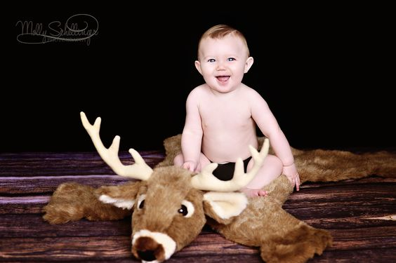 My baby boy's 6 month hunter woods themed photos from Molly Schellinger Photography!