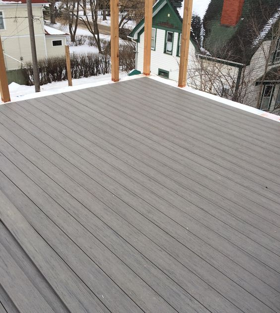 Rooftop patio composite deck under construction timber Terrain decking