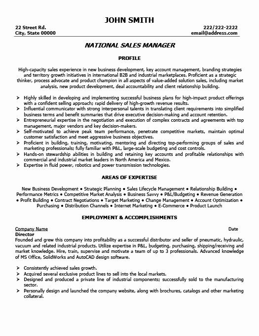 Software Product Manager Resume New National Sales Manager Resume Manager Resume Resume Resume Objective Sample