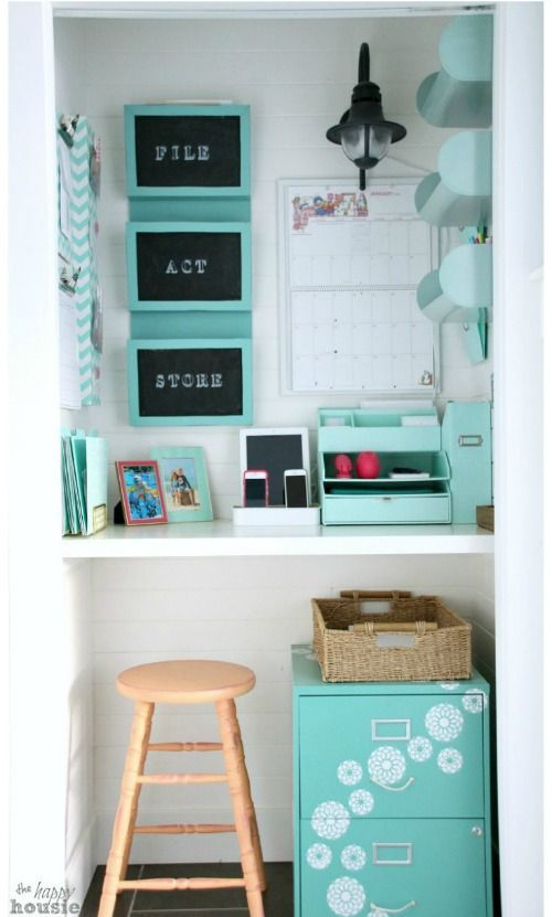 Instead of a a Command Center make a Command Closet - Home Command Centers and Homework Center Ideas on Frugal Coupon Living. Organize your life and home before the Back to School Season.