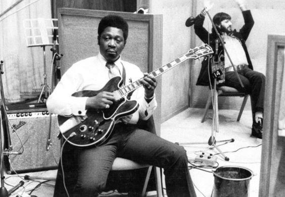 """BB King & Ringo recording, """"BB King In London"""" in 1971."""