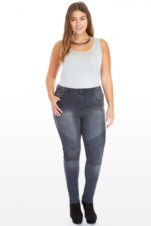 Plus Size Kelby Moto Skinny Jeans | Fashion To Figure $46.90 | FTF ...