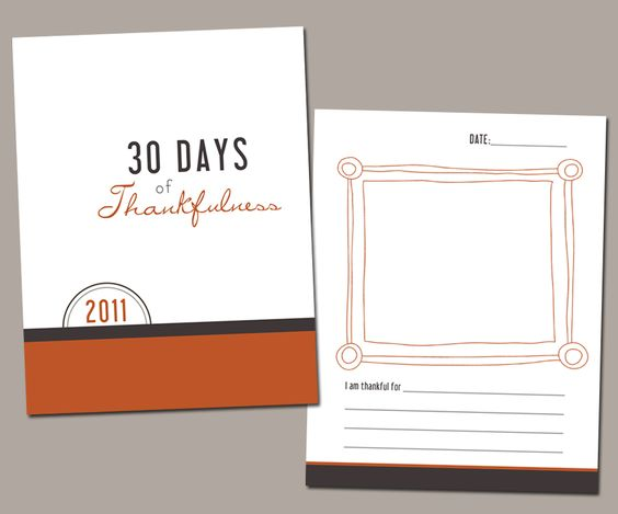 30 Days of Thankfulness | Free Printables!