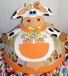 Artesanato Fofo: Cobre bolo em EVA e tecido com molde e PAP