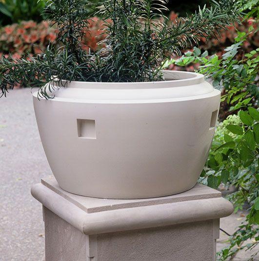 Classic Pediment Planters Fine Cast Stone Urns Jardinieres