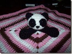 Angel Bear Knitting Pattern : Panda Bear Lovey Angels Knitting and Crochet CROCHET Pinterest F...