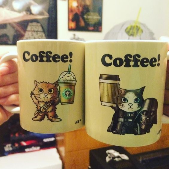 Cute Star Wars Kitty Mugs! Available from @alancboyle ! Check them out! I love them! #starwars #starwarsdaily #lucasfilm #disney by starwarsdaily