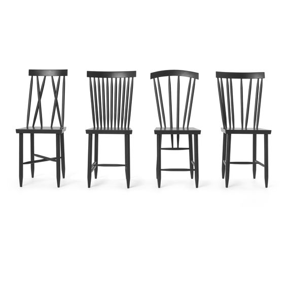 Design House Stockholm Family Chair No 3 Set Of 2 Eclectic Dining Chairs Eclectic Chairs Chair Design