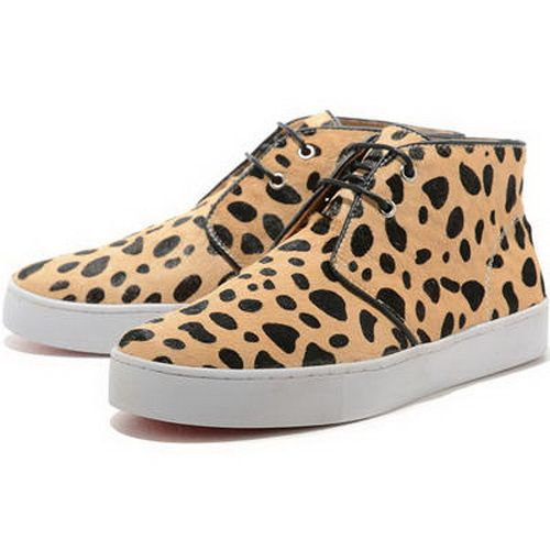 Seaside with  Christian Louboutin Pony Sneakers Leopard-184