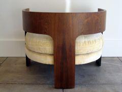 Pair of Milo Baughman Club Chairs - T backs.