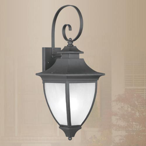 Hillsdale Black Outdoor Wall Lantern