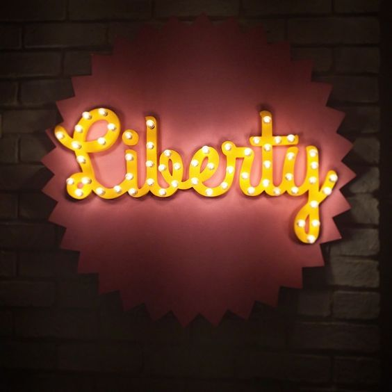 Sign lights - Liberty . Work space